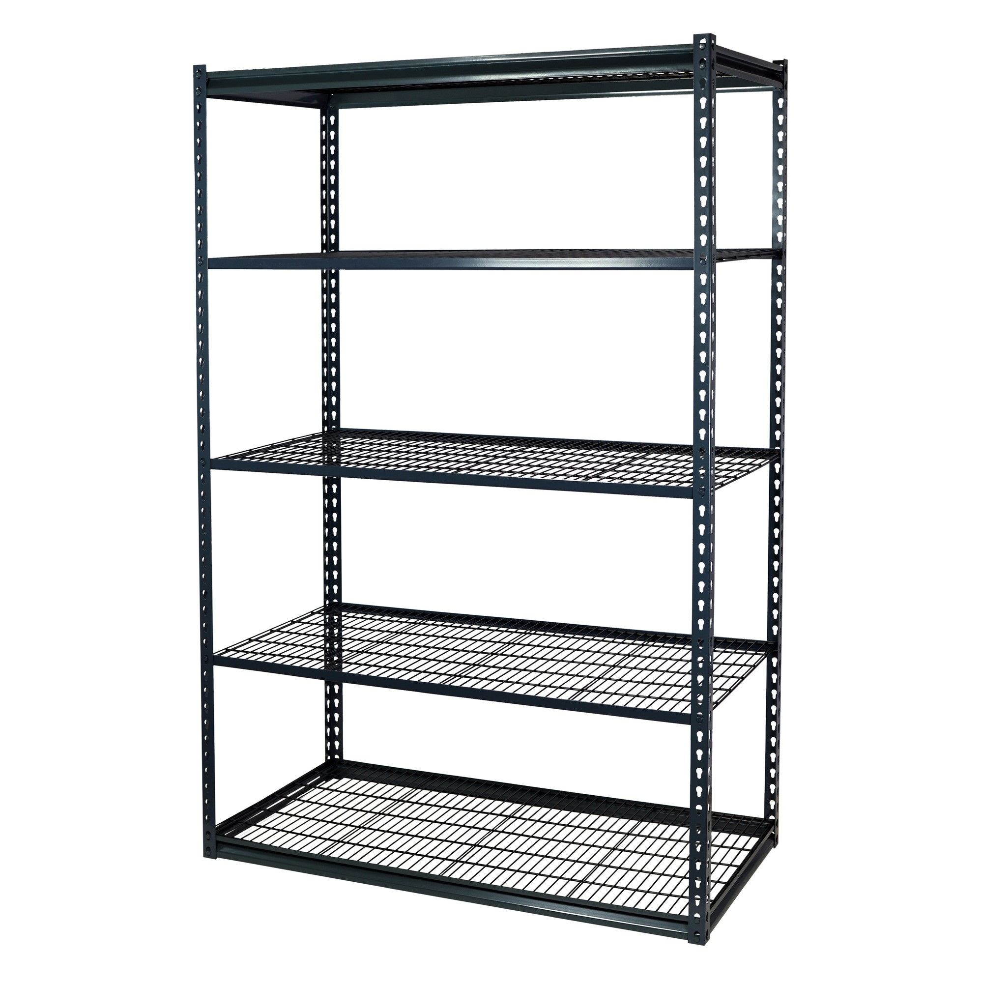 Storage Max Garage Shelving Boltless, 36 x 12 x 72, Low Profile, 5 Shelves