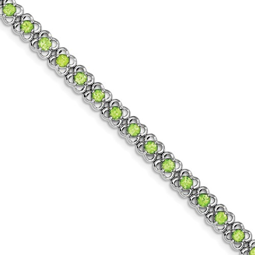 Sterling Silver Peridot Bracelet. Gem Wt- 5.67ct by Jewelrypot