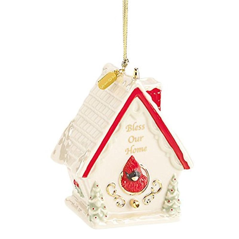 Lenox Christmas 853545 2015 Bless Our Home Birdhouse Ornament