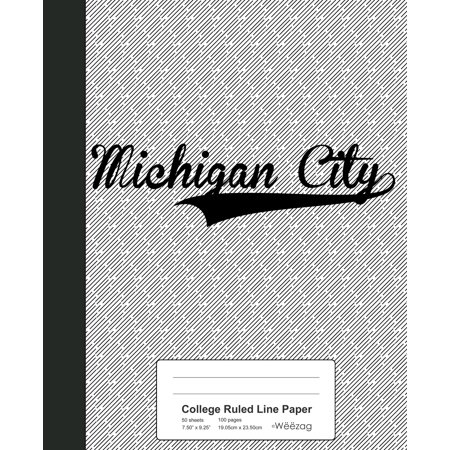 Halloween City Jobs Michigan (College Ruled Line Paper : MICHIGAN CITY)