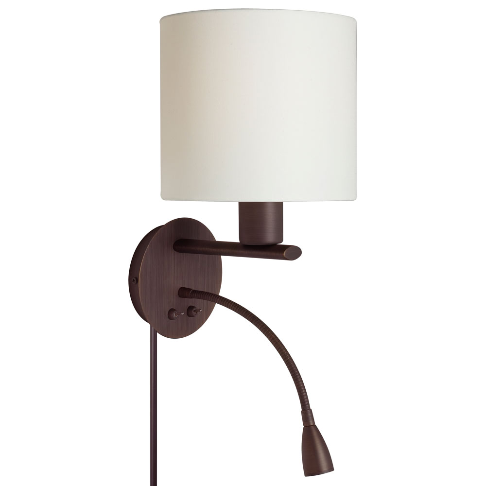Dainolite DLED410-W Wall Sconce with Reading Lamp