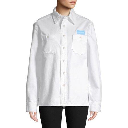 Long-Sleeve Logo Cotton Shirt Cotton Long Sleeve Overalls
