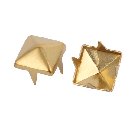 100pcs 7mm Square Shaped Paper Brad Gold Tone for Scrapbooking DIY Craft - image 1 of 2