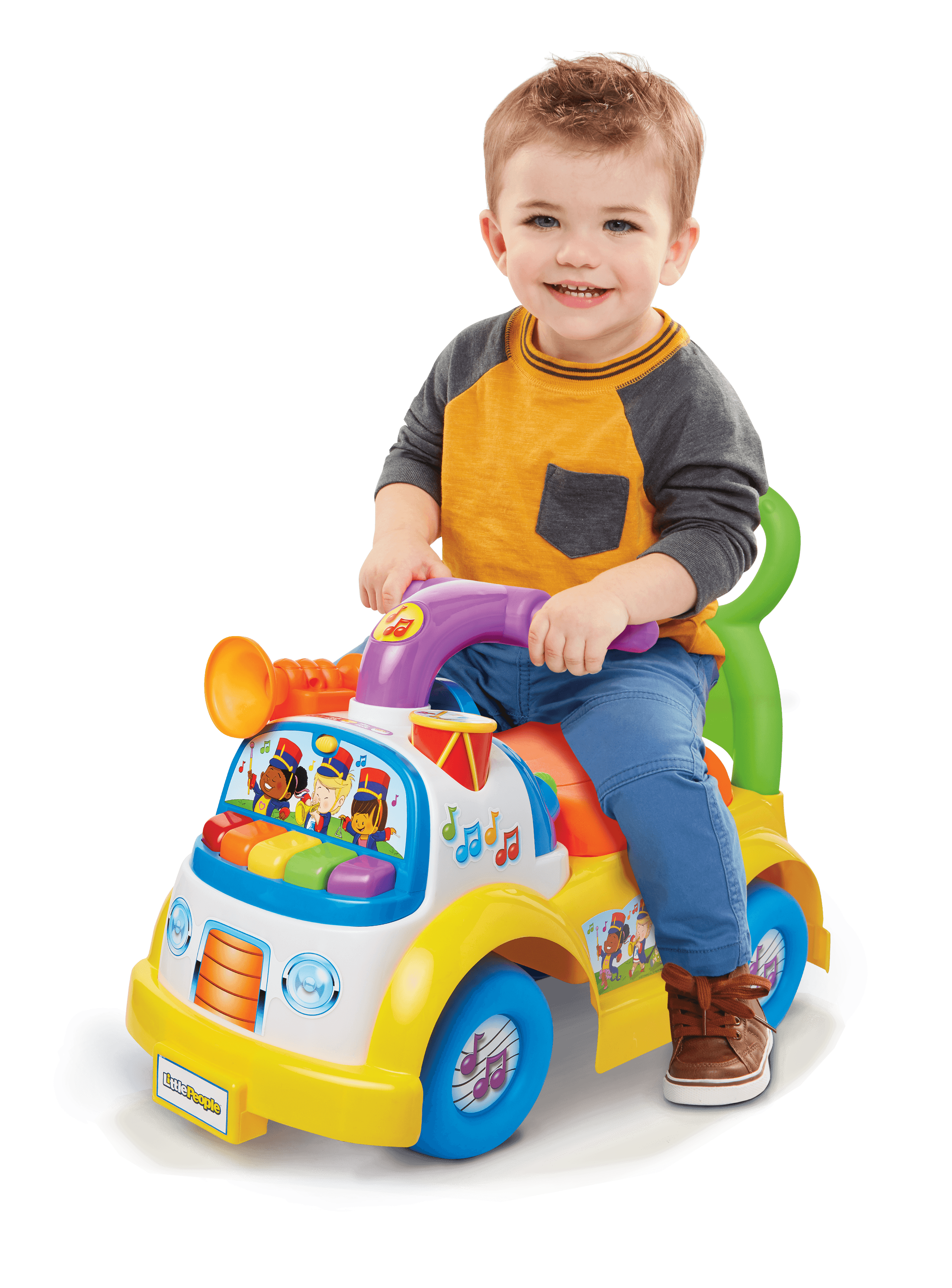 Fisher Price Little People Music Parade Ride On With Sounds Walmart Com Walmart Com