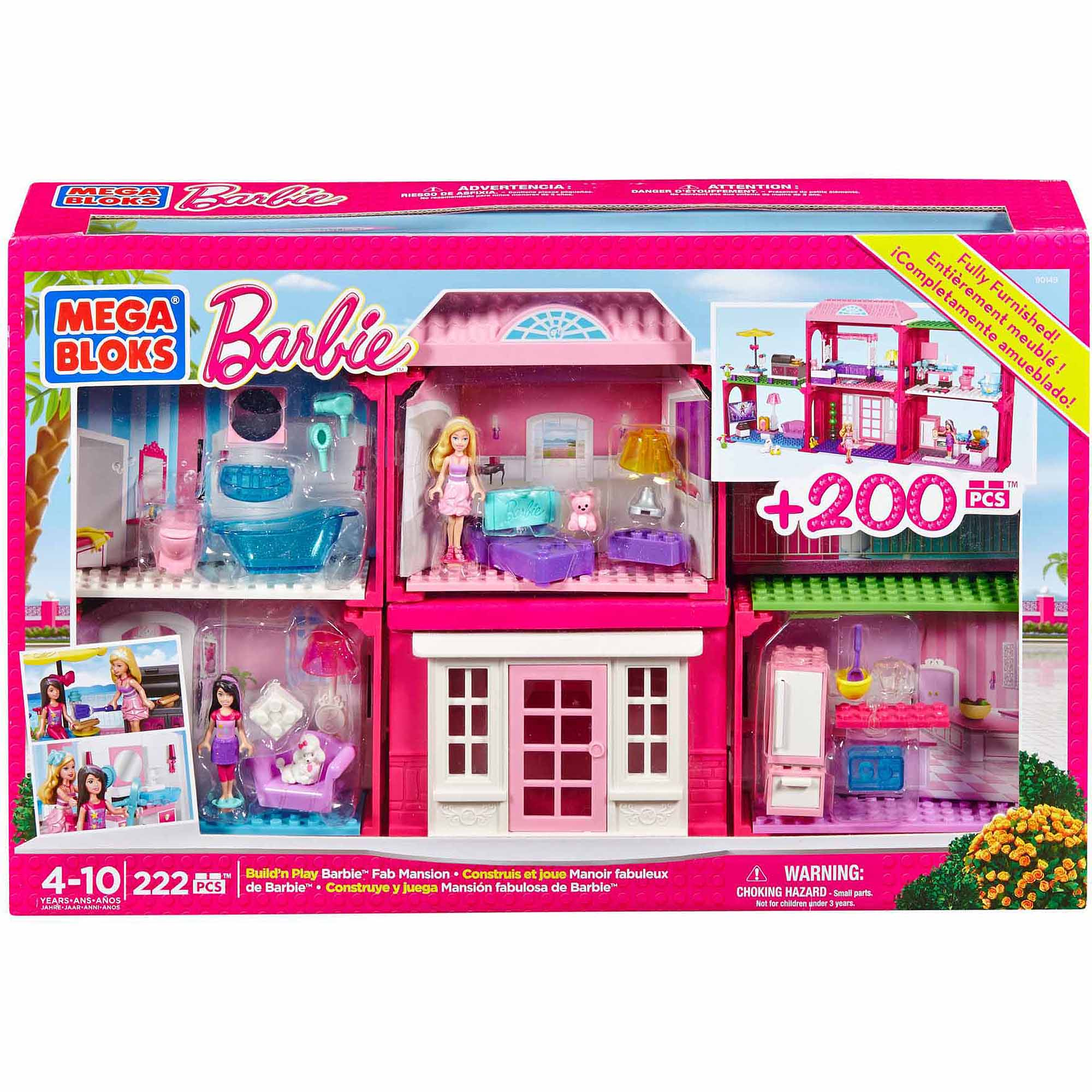 Mega Bloks Build 'n Play Barbie Fab Mansion