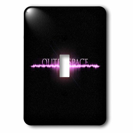 3dRose Outer Space - futuristic typographic outer space with flare and stars - Single Toggle Switch