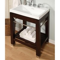 Empire Industries New York 21 in Dark Cherry Open Shelf Console Vanity Ny21dc Base