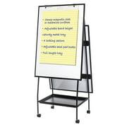 MasterVision Creation Station Dry Erase Board, 29 1/2 x 74 7/8, Black Frame