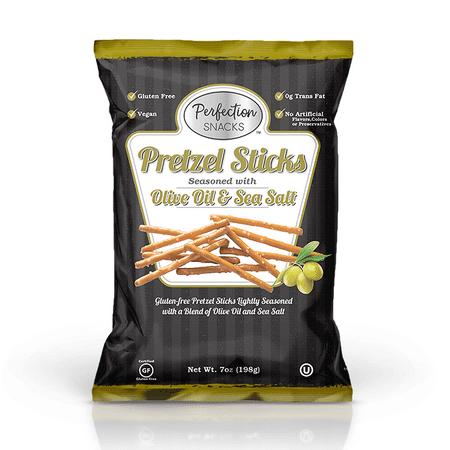 Perfection Snacks Gluten Free Pretzels, Olive Oil & Sea Salt, 7 Oz, 3