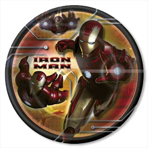 Iron Man Large Paper Plates (8ct)