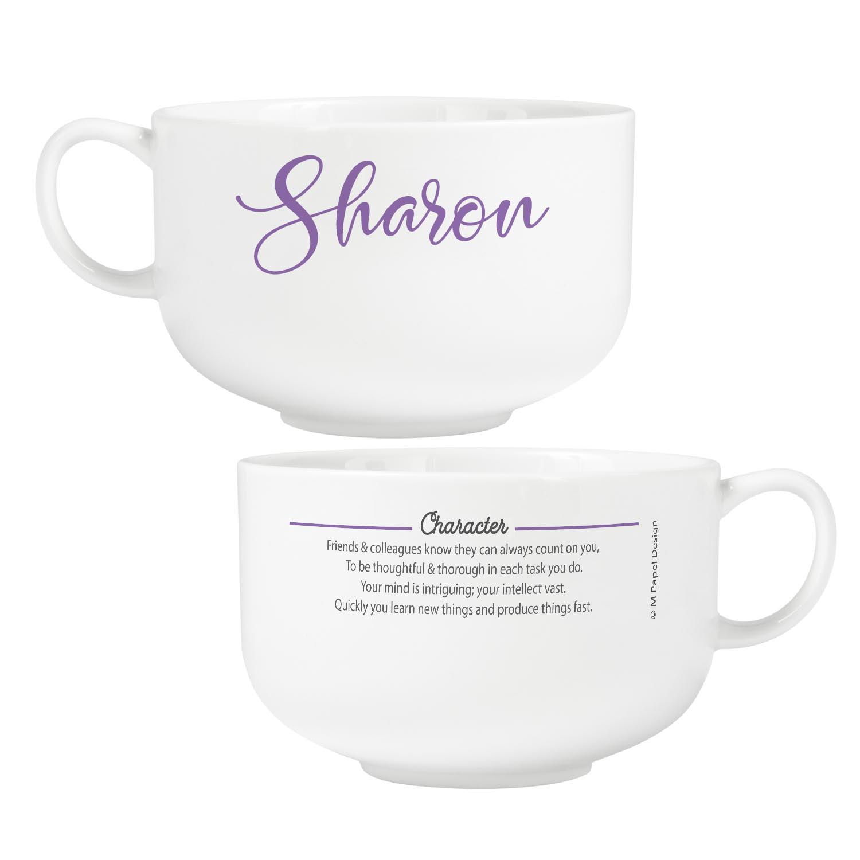 Personalized Name Meaning Ceramic Bowl - Purple - Script - Walmart.com