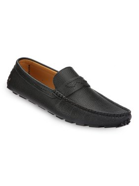 Mio Marino Men's Casually Suave Leather Penny Loafers