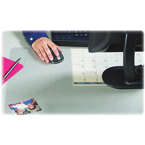 """20"""" x 36"""" Krystal View Non-Glare Antimicrobial Desk Pad Organizer with Microban, Satin by Artistic Products"""