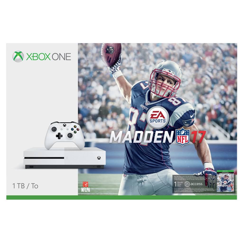 Image of Refurbished Microsoft 234-00025 Xbox One S Madden NFL 17 1 TB Bundle