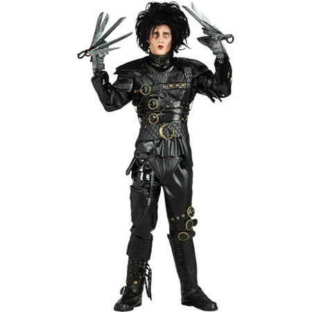 Edward Scissorhands Deluxe Adult Halloween Costume - One Size](Edward Scissorhands Halloween Makeup)