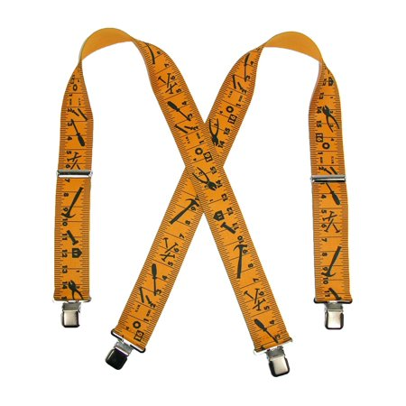 Size one size Men's Big and Tall Elastic Tape Measure Clip End Work Suspenders