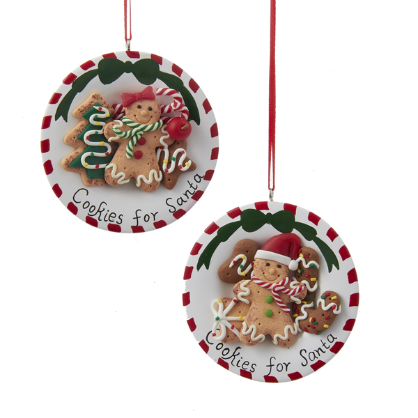 "Club Pack of 12 Red and White Gingerbread Kisses ""Cookies for Santa"" Christmas Ornaments 3"""