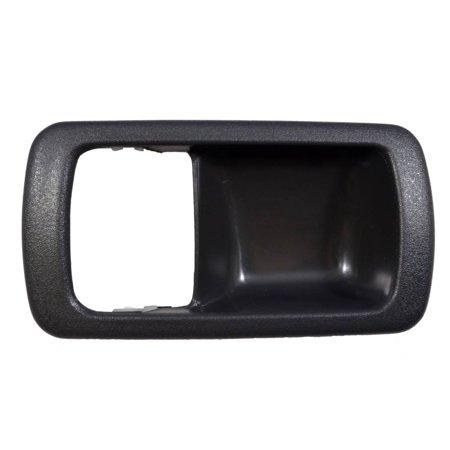 PT Auto Warehouse TO-2532G-2LH - Inner Interior Inside Door Handle Trim/Bezel, Gray - Driver Side Door Handle Gray Bezel