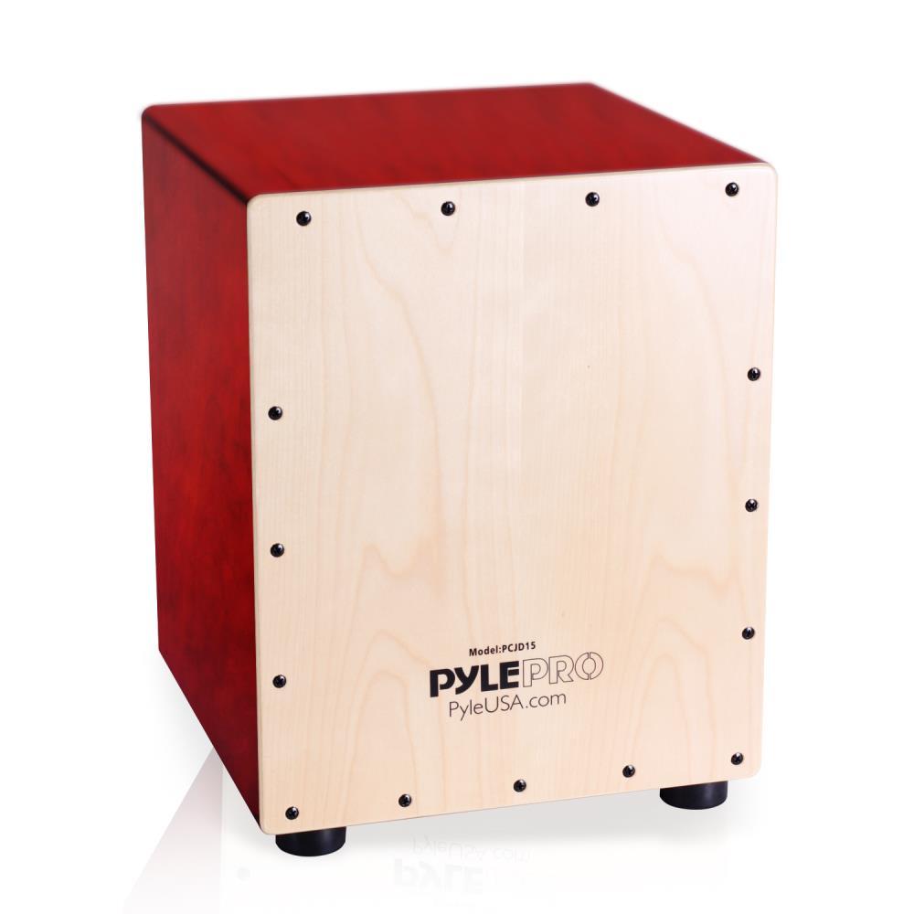 Pyle PCJD15 - Stringed Jam Cajon - Wooden Cajon Percussion Box