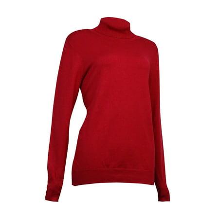 Charter Club Women's Button-Trim Knit Turtleneck Sweater Button Cuff Turtleneck Sweater