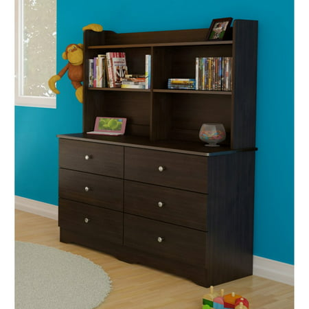 Espresso Mini Furniture (Nexera Pocono 6-Drawer Double Dresser, Espresso)