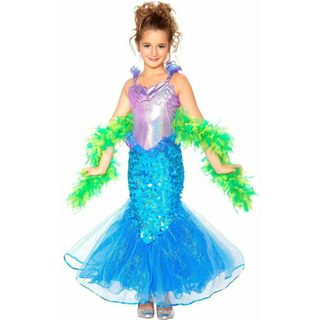 Mermaid Girls' Child Halloween Costume - Baby Mermaid Costumes Halloween