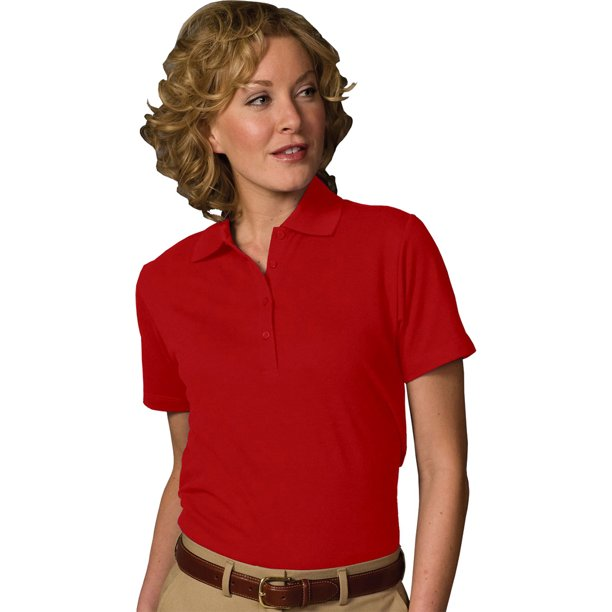 Edwards Garment Women's Soft Touch Blended Pique Polo Shirt, Style 5500