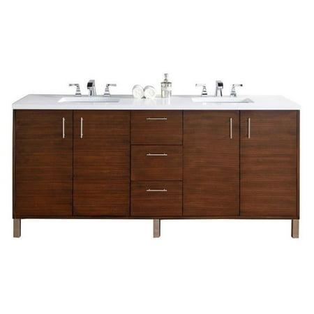 james martin metropolitan 72 double bathroom vanity in walnut