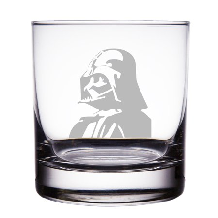 Darth Vader Star Wars Engraved 10 oz Rock Glass - Star Glasses