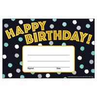 Trend Enterprises T-81086 5.5 x 8.5 in. I Heart Metal Birthday Recognition Awards