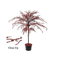 CMI 3.8' Unlit Artificial Christmas Tree Red Holiday Crystallized Potted Glitter