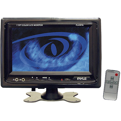 "Pyle Audio 7"" Widescreen TFT/LCD Video Monitor with Headrest Shroud"