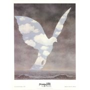 "RENE MAGRITTE La Grande Famille 51.75"" x 39.25"" Offset Lithograph 1996 Surrealism Pastel, Blue, Brown, Black & White"