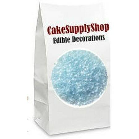 Cupcake Sprinkles (Light (Baby) Blue  Cake & Cupcake Decoration Sparkle Flakes)