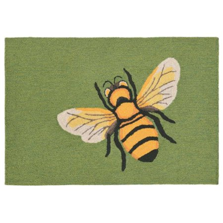 Trans-Ocean Import FTP23150506 Frontporch 1505-06 Hand Tufted Bee Oriental Rug, Green - 24 x 36 in. - image 1 of 1
