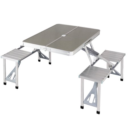 Costway Aluminum Portable Folding Picnic Table Camping