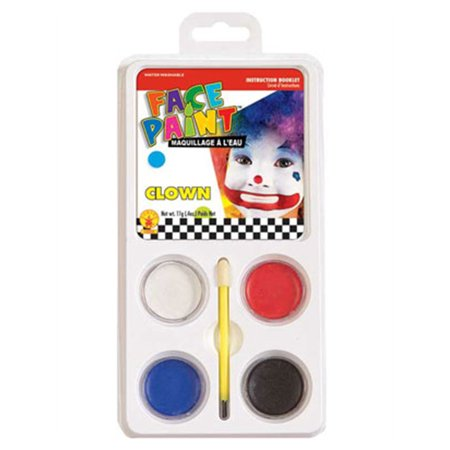 Multi-Purpose Clown  Costume Accessory 5-Piece Aqua Makeup Kit