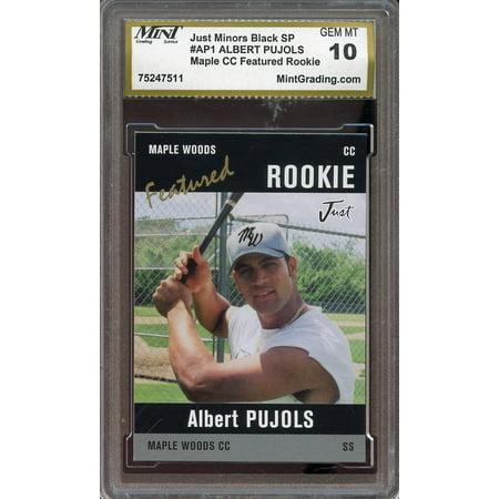 2001 just minors black SP maple CC featured rookie #ap1 ALBERT PUJOLS rc MINT - 10 Cc Control