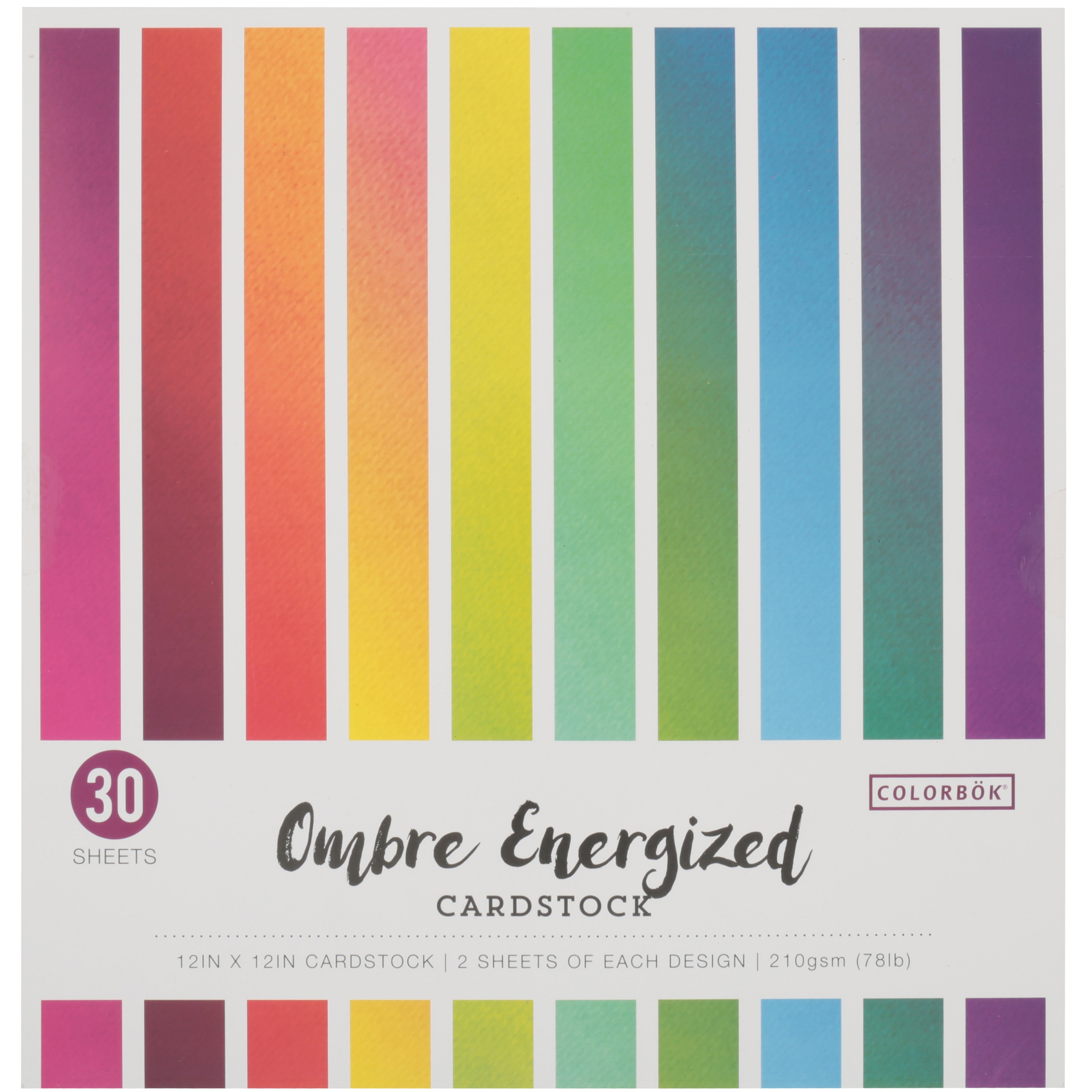 Colorbök® Ombre Energized Cardstock 30 Sheet Pack