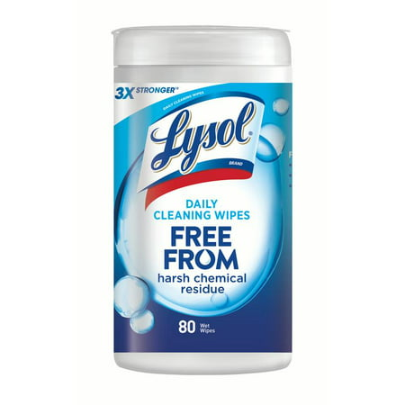 Lysol Daily Cleansing Disinfecting Wipes, 80ct, No Harsh Chemicals, Cleaner