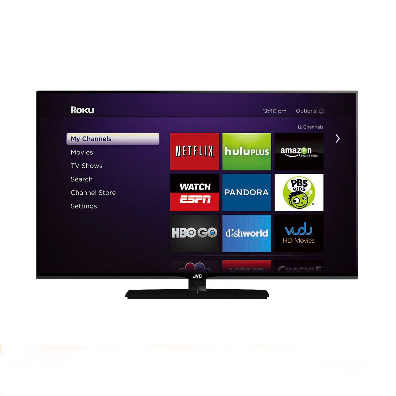 "JVC 42"" Class 1080p LED HDTV w/ Roku Streaming Stick - EM..."