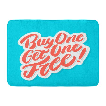 GODPOK Discount Badge Buy One Get Free Coupon Label Rug Doormat Bath Mat 23.6x15.7 inch](Halloween Discount Coupons)