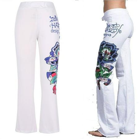 Waist Flare Leg Pant - Women's Pants,Gamiss Skull Print Pants Plus Size Women Casual High Waist Flare Wide Leg Long Pants