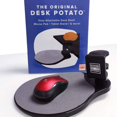 Original Desk Potato by Stand Steady® - Easy Clamp Attachable Desk Shelf / Mouse Pad/ Buy 2 and Make a Keyboard Tray! - Original And Easy To Make Halloween Costumes