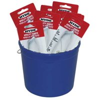 """HYDE 49695 Utility Pail of 25 Utility Knives, Metal, Retractable, 6-1/2"""""""