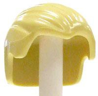 LEGO Blonde Combed Back with Widow's Peak Loose Hair