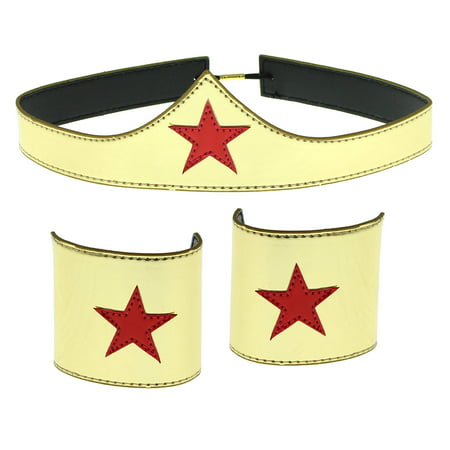 Plus Size Female Cosplay Ideas (Wonder Woman Cuff and Tiara Adult Cosplay Costume)