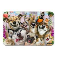 "Pet Animals Selfie Dogs Cats Rabbit Hamster Guinea Pig Home Business Office Sign - Plastic - 12"" x 8"" (30.5 cm x 20.3cm)"