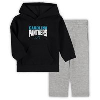 Carolina Panthers Toddler Fan Flare Pullover Hoodie and Sweatpants Set - Black/Gray