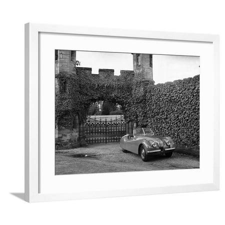 Jaguar XK120 Sports Car Framed Print Wall Art